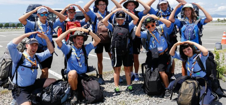 Il contingente di San Marino alla Cerimonia di apertura del 23rd World Scout Jamboree